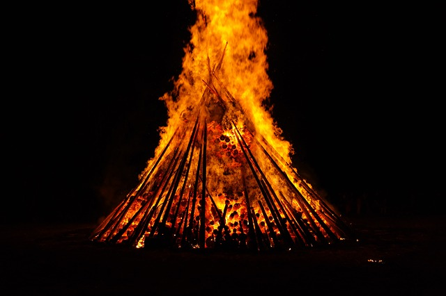 midsummer Beltane festival of fire