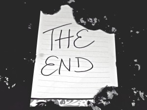 writing - the end