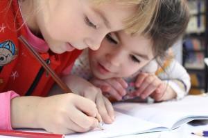 kids writing longhand