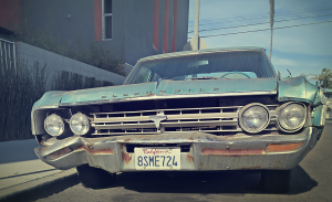 bleached old car