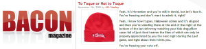 To Toque or Not to Toque - Bacon Magazine