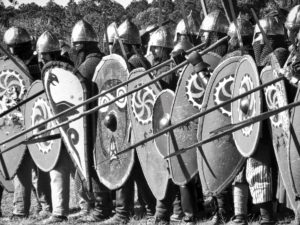 medieval spears and shields