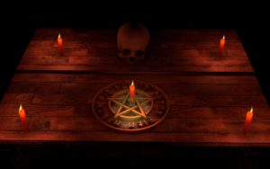 pentacle and altar