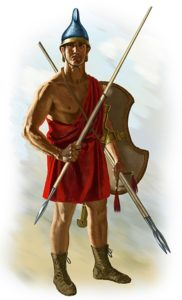 Agrianian Peltast with javelin