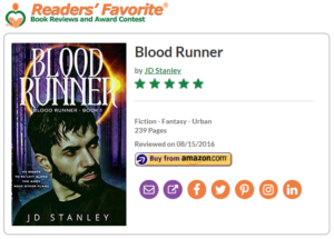 Review - Blood Runner, Readers Favorite 5 star review