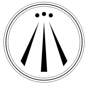 Awen, the modern Druid symbol, the 3 rays referring to inspiration and divine illumination for poets, writers, artists and creativity - representing male and female energy and the balance between, also the 3 domains of earth, sea and sky, and mind, body and spirit
