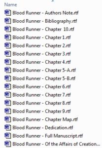 Chapter Breakdown continuity helper example