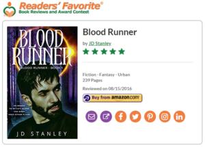 Review - Blood Runner, Readers Favorite 5 star review